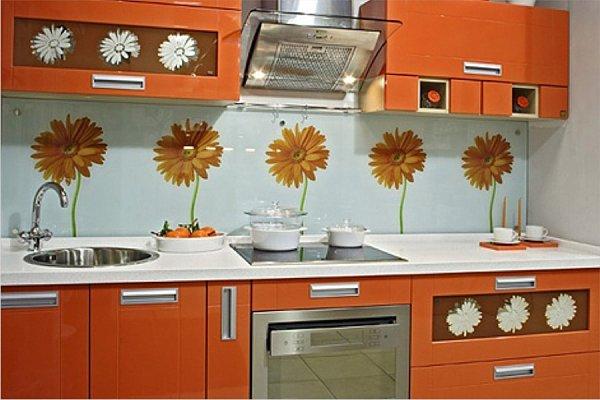 Оформление кухонных фартук в
