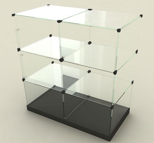 Схема сборки витрины из стекла