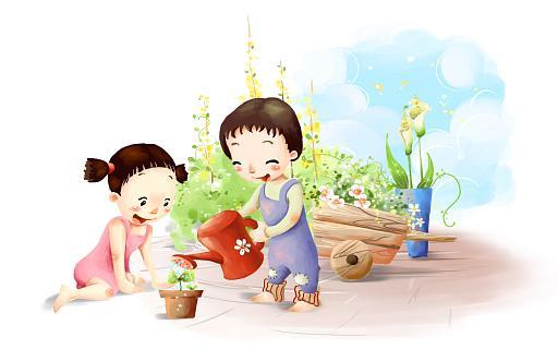 Детские цветы картинки нарисованные 7