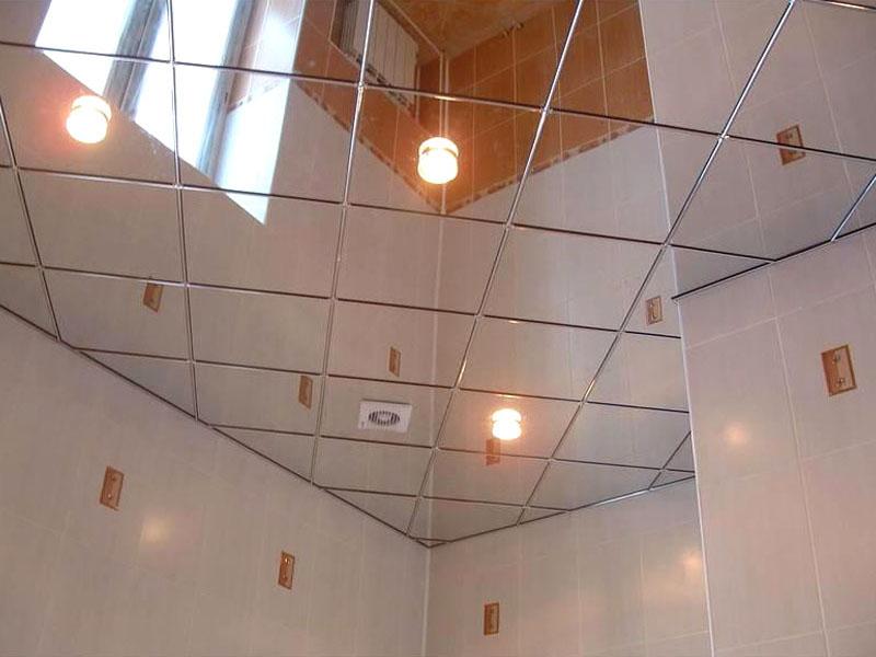 Как сделать зеркальный потолок в ванной